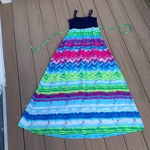NWOT: GIRL'S JUSTICE MAXI DRESS SIZE 12